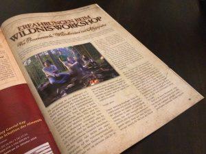 LARPzeit-Artikel zum Wildnis-Workshop