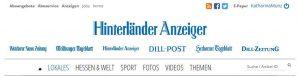 Interview im Hinterländer Anzeiger