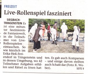 """Zeitungsartikel über Con """"Ferien vom Ich"""""""